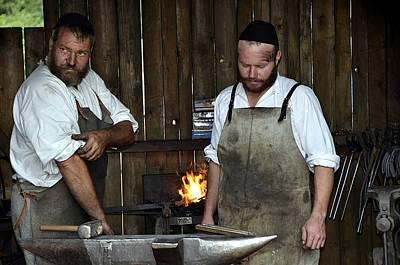 The Medieval Blacksmith In Bavaria Poster