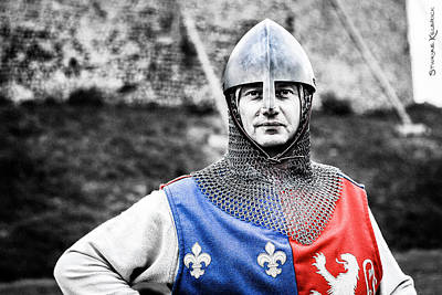 Poster featuring the photograph The Medieval Warrior by Stwayne Keubrick