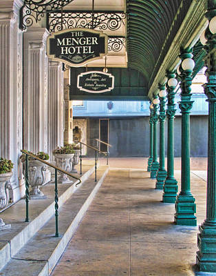 The Menger Hotel In San Antonio Poster by David and Carol Kelly
