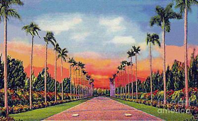 The Miami Jockey Club In Hialeah Fl Poster