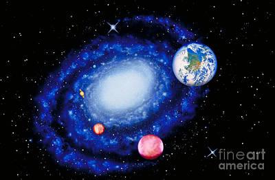 The Milky Way Poster by Chris Bjornberg