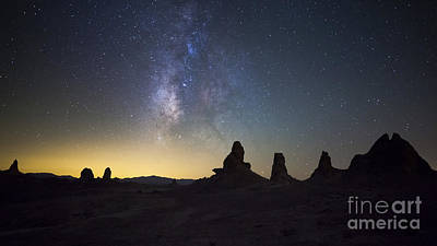 The Milky Way Over Trona Pinnacles Poster by Dan Barr