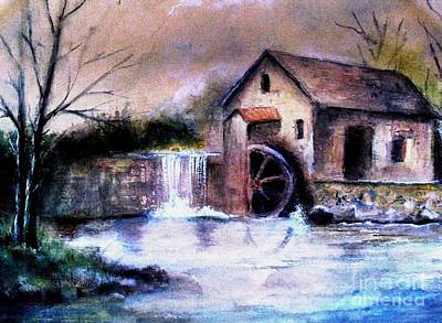 Poster featuring the painting The Millstream by Hazel Holland