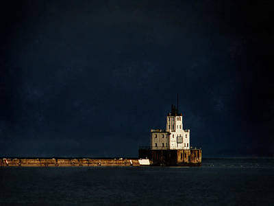 The Milwaukee Breakwater Lighthouse Poster by David Blank