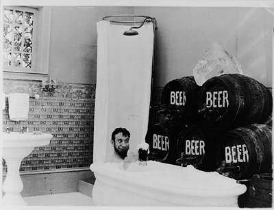 The Mishaps Of Musty Suffer - Bathtub Of Beer Poster by Bill Cannon