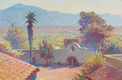 The Mission At Tubac Poster by Ernest Principato