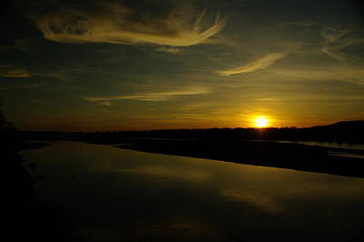 The Missouri River At Sunset South Of Culbertson Mt  Poster