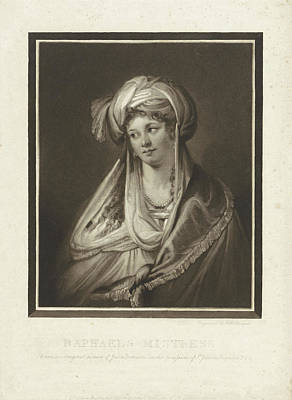 The Mistress Of Raphael, Print Maker Charles Howard Hodges Poster