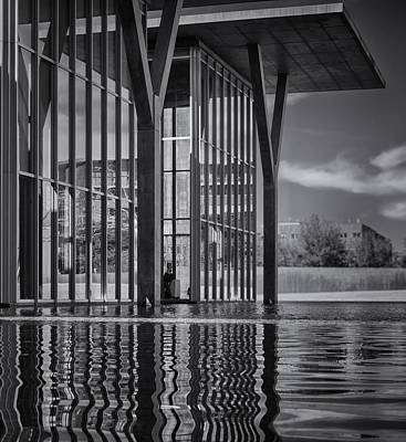 The Modern Bw Poster by Joan Carroll