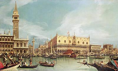 The Molo, Venice Poster
