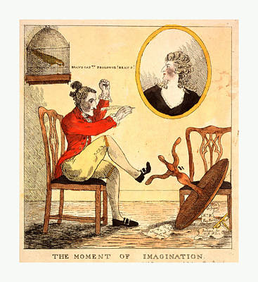 The Moment Of Imagination, Engraving 1785 Poster by Litz Collection