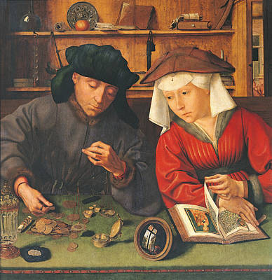 The Money Lender And His Wife, 1514 Oil On Panel Poster
