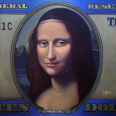 Money Lisa And The Commodification Of Art Poster by Patrick Anthony Pierson