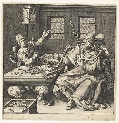 The Money Weighers And Death, Jacob De Gheyn II Poster by Jacob De Gheyn Ii