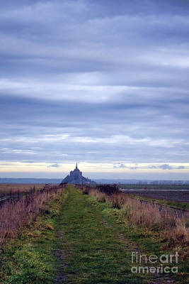 The Mont Saint Michel In Normandy France Poster by Olivier Le Queinec