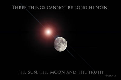 Poster featuring the photograph The Moon by Pennie  McCracken