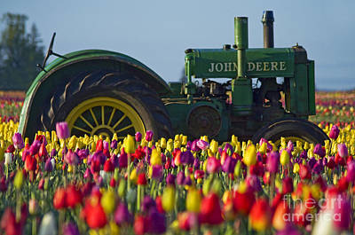 Poster featuring the photograph The Most Photographed Tractor In Oregon by Nick  Boren