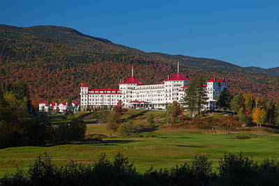 The Mount Washington Hotel In Autumn Poster