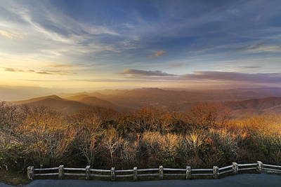 The Mountains Of Brasstown Bald Poster by Debra and Dave Vanderlaan