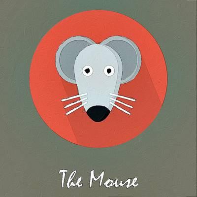 The Mouse Cute Portrait Poster by Florian Rodarte