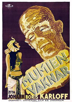 The Mummy, Aka Mumien Vaknar, Swedish Poster by Everett