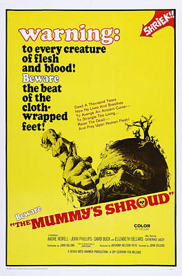 The Mummys Shroud, Poster Art, 1967 Poster by Everett