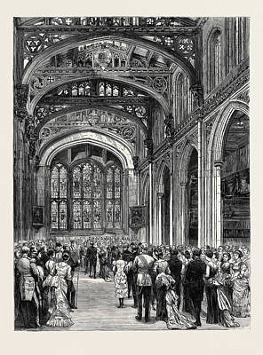 The Municipal Ball At The Guildhall Poster by English School