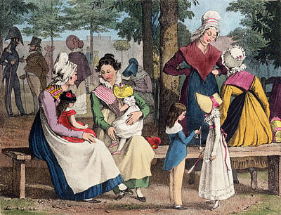The Nannies, 1820 Colour Litho Poster by John James Chalon