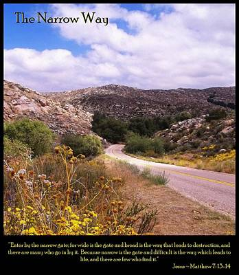 The Narrow Way Poster by Glenn McCarthy Art and Photography