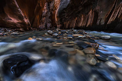 The Narrows At Zion National Park - 1 Poster by Larry Marshall