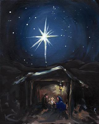 The Nativity Poster by Kim Marshall