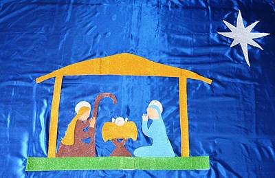 Poster featuring the painting The Nativity  by Magdalena Frohnsdorff
