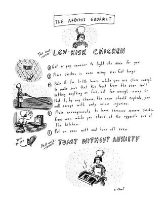 The Nervous Gourmet: Low-risk Chicken Poster by Roz Chast