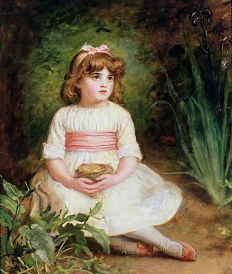 The Nest Oil On Canvas Poster by Sir John Everett Millais