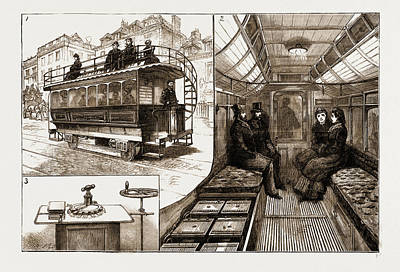 The New Electric Tramcar At Kew Bridge, London Poster by Litz Collection