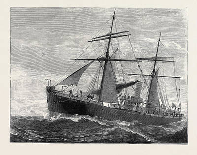 The New Indian Telegraph-ship Patrick Stewart 1879 Poster