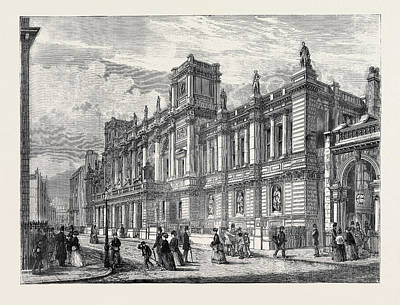 The New London University Buildings, Burlington Gardens Poster