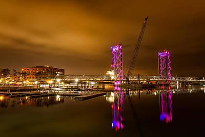 The New Memorial Bridge At Night Poster