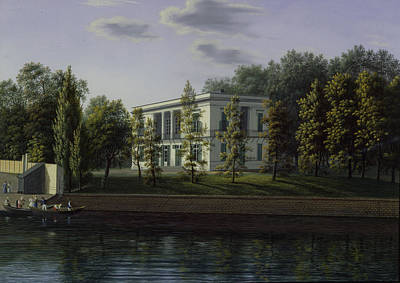 The New Pavilion In The Gardens Of Charlottenburg Palace, C.1824-25 Wc On Paper Poster by Johann Wilhelm Gottfried Barth