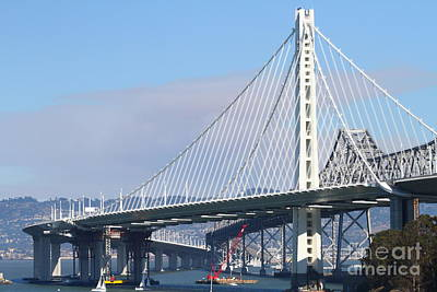 The New San Francisco Oakland Bay Bridge 7d25464 Poster by Wingsdomain Art and Photography
