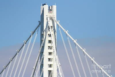The New San Francisco Oakland Bay Bridge 7d25481 Poster by Wingsdomain Art and Photography