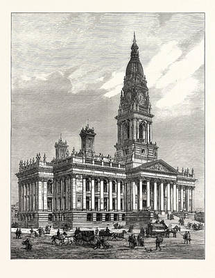 The New Townhall Of Bolton, Lancashire, Opened Poster by Welsh School