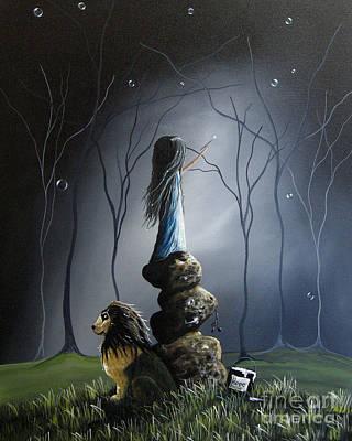 The Night Watchman By Shawna Erback Poster by Shawna Erback