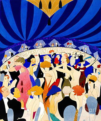 The Nightclub 1921 Poster by Padre Art