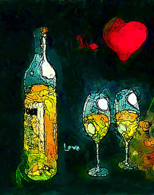 The No.2 Love Poster by Marcello Cicchini