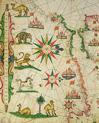 The North African Coast, From A Nautical Atlas, 1651 Ink On Vellum Detail From 330919 Poster