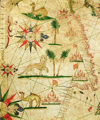 The North Coast Of Africa, From A Nautical Atlas, 1651 Ink On Vellum Poster
