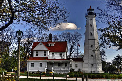Poster featuring the photograph The Northpoint Lighthouse by Deborah Klubertanz