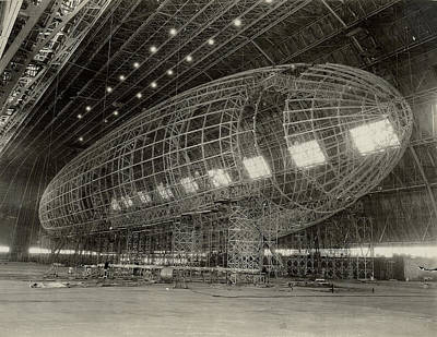 The Nose Of Uss Akron Being Attached Poster