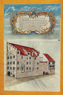 The Nuremberg Residence Of The Derrer Family Georg Strauch Poster by Litz Collection